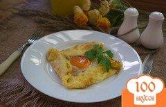 Фото рецепта: «Блины с яйцом на завтрак»