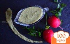 Фото рецепта: «Сырный соус с ботвой редиса»
