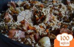 Фото рецепта: «Плов с куриным мясом и чечевицей»
