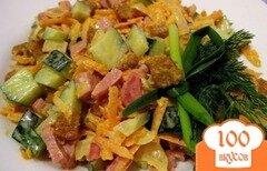 Фото рецепта: «Салат с колбасой полукопченой»