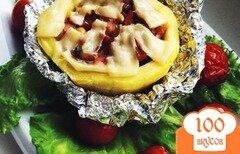 Фото рецепта: «Фаршированный запеченный кабачок»