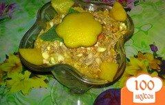 Фото рецепта: «Десерт творожный со сливами»