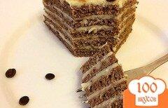 Фото рецепта: «ПП тортик Шоколадный торт с заварным кремом»