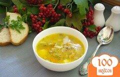 Фото рецепта: «Густой рассольник с курицей и грибами»