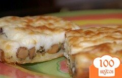 Фото рецепта: «Пирог с грибами и картошкой»