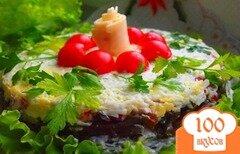 Фото рецепта: «Слоеный салат с грибами»