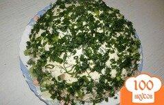 Фото рецепта: «Салат с кальмарами и грибами»