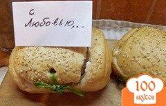 Фото рецепта: «Булочки фаршированные с соусом»
