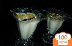 """Фото рецепта: «Молочно-цитрусовый десерт """"Апельсиновые брызги""""»"""