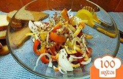 Фото рецепта: «Салат из красных овощей и семян льна»