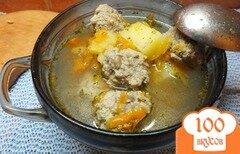 Фото рецепта: «Суп с фрикадельками и тыквой»