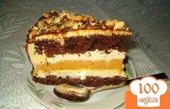 """Фото рецепта: «Торт """"Сникерс"""" без выпекания»"""
