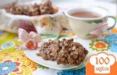 Фото рецепта: «Шоколадное печенье без выпечки»