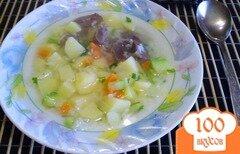 Фото рецепта: «Рисовый суп с кабачком на пупках»