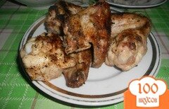 Фото рецепта: «Куриные крылья с лимоном на мангале»