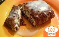 Фото рецепта: «Шоколадные блинчики с творогом»