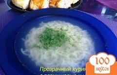 Фото рецепта: «Куриный бульон с вермишелью»