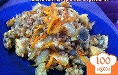 Фото рецепта: «Гречка запеченная с грибами в духовке»