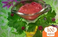 Фото рецепта: «Соус к мясу с красной смородиной»