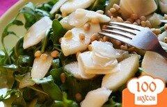 Фото рецепта: «Салат с руколой и грушей»