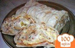 Фото рецепта: «Лаваш с грибами и курицей»