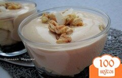 Фото рецепта: «Фруктовый десерт с муссом из сгущеного молока»