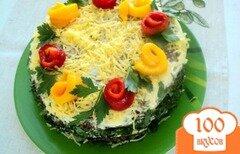 Фото рецепта: «Баклажанный закусочный торт»