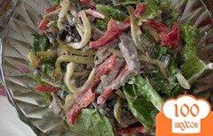 Фото рецепта: «Салат из говядины и грибов»