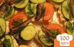 Фото рецепта: «Бутерброды со шпротами и чесноком»