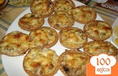 Фото рецепта: «Салат в тарталетках с грибами»