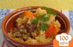 Фото рецепта: «Пшеничная каша с соевым мясом и овощами»