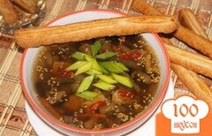 Фото рецепта: «Суп с баклажанами и грибами»