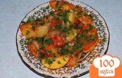 Фото рецепта: «Соус с курицей и картошкой»