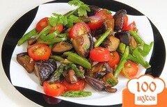 Фото рецепта: «Салат с помидорами и грибами»