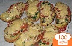 Фото рецепта: «Горячий бутерброд со шпротами»