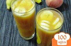 Фото рецепта: «Персиково-банановый смузи»