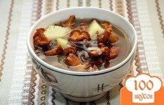 Фото рецепта: «Суп из грибов лисичек»
