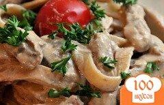 Фото рецепта: «Лапша с курицей и грибами»