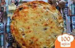 Фото рецепта: «Лоранский пирог с курицей и грибами»