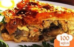 Фото рецепта: «Курник с курицей и грибами»