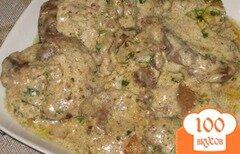 Фото рецепта: «Куриная печень в сметане»