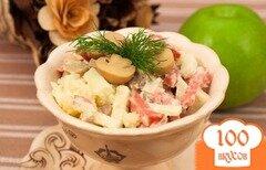 Фото рецепта: «Салат из картофеля и грибов»
