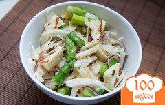 Фото рецепта: «Салат со спаржей и сыром халуми от Джимми Оливера»