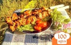 Фото рецепта: «Шашлык из куриного филе с прослойками сала»
