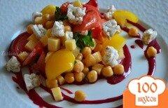 Фото рецепта: «Овощной салат с соусом из ежевики»