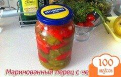 Фото рецепта: «Маринованный перец с чесноком на зиму»