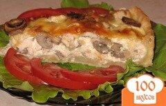 Фото рецепта: «Пирог с грибами и мясом»
