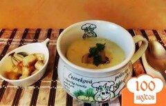 Фото рецепта: «Суп из кабачков с грибами»