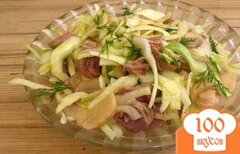 Фото рецепта: «Салат из капусты и грибов»