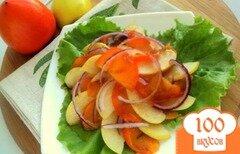 Фото рецепта: «Салат с хурмой и яблоками»